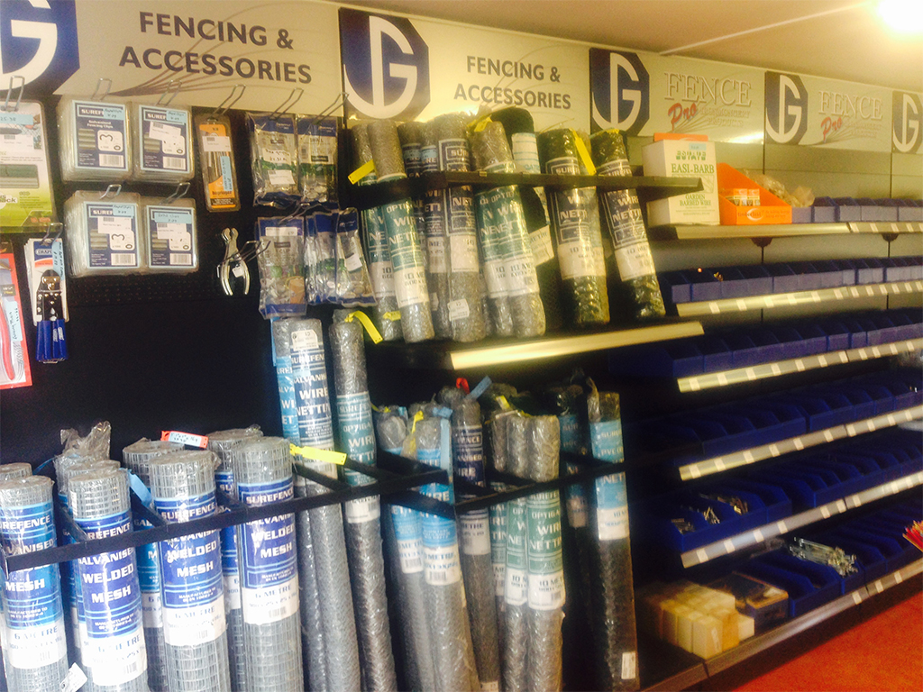 We stock a wide selection of fencing and accessories