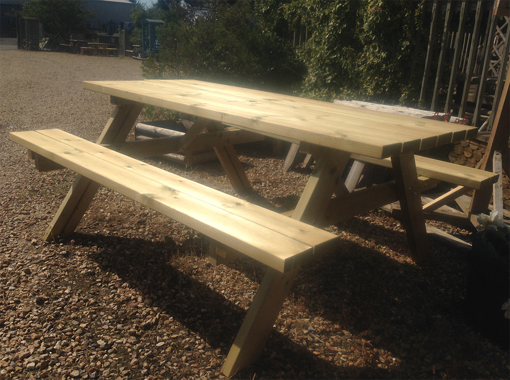 Picnic Table with folding seats